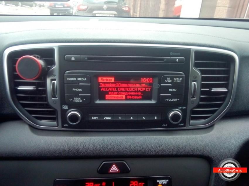Kia Sportage: как подключить телефон по блютуз к штатной системе мультимедиа