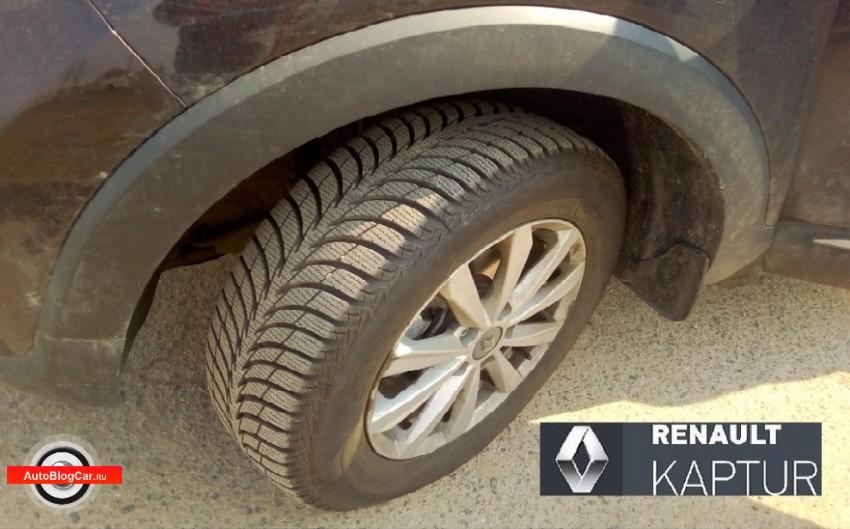 Renault Kaptur: эксплуатация зимних шин Sava Eskimo