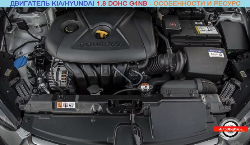 Двигатель Kia/Hyundai 1.8 DOHC G4NB: честный обзор характеристик, надежности и ресурса