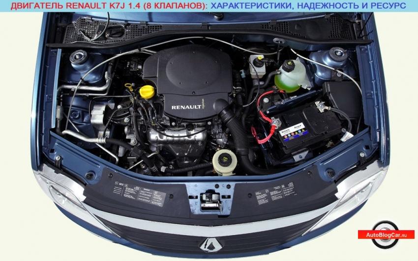 Двигатель Renault/Рено K7J 1.4 8v 75 л.с: обзор, отзывы, характеристики, надежность, проблемы и ресурс