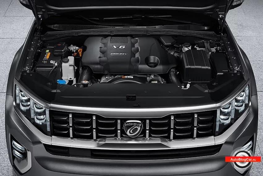Двигатель нового Киа Мохаве (Kia Mohave) - D6EA 3.0 CRDi V6 250 л.с: ресурс, характеристики и проблемы