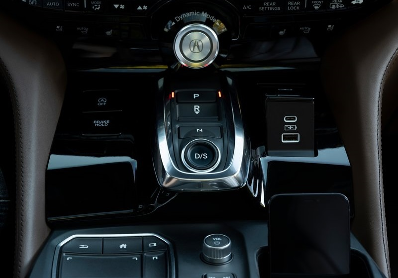 Салон Acura MDX 2022, элементы интерьера