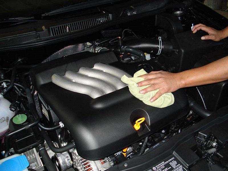 очистка двигателя автомобиля