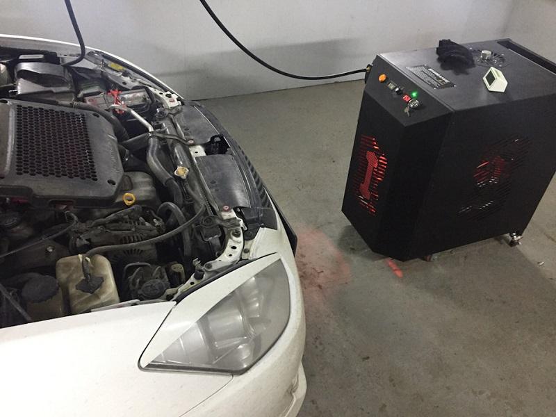 Водородная раскоксовка двигателя