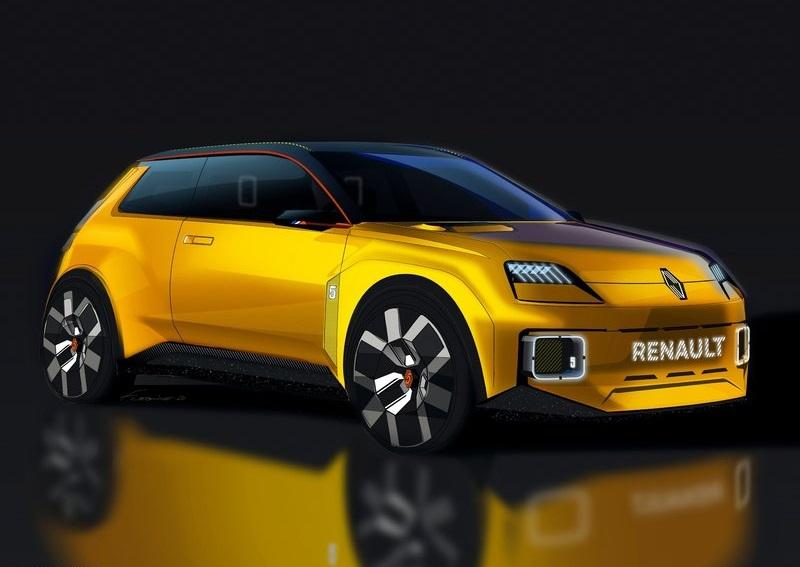Renault 5 Concept, вид спереди и сбоку справа