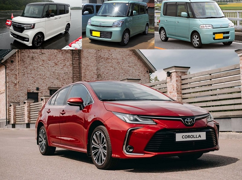 Honda, Suzuki, Daihatsu и Toyota