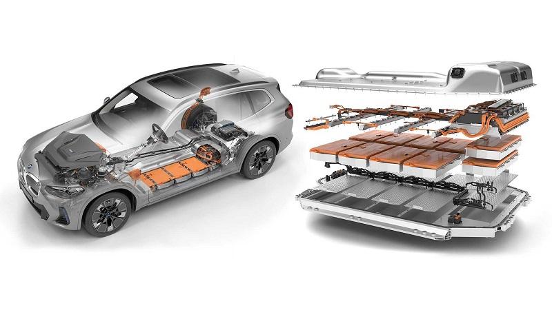 BMW iX3 2022, батарея