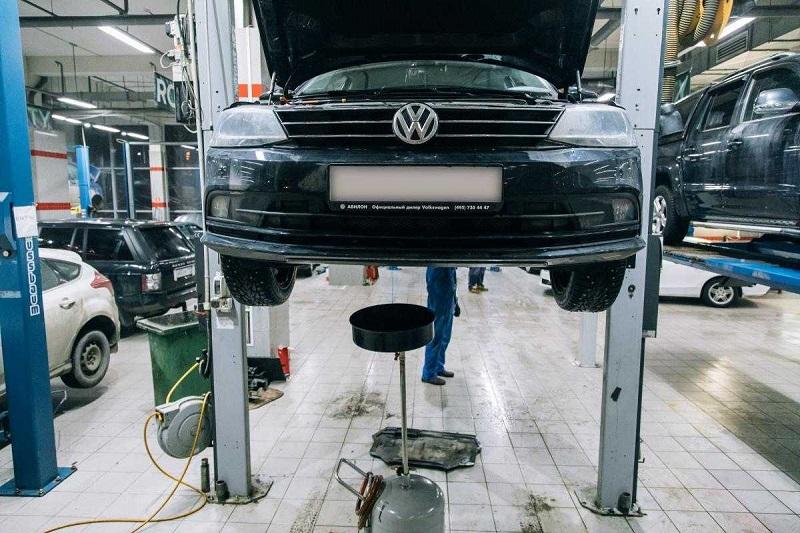 Основные работы по а/м Volkswagen во время технического обслуживания