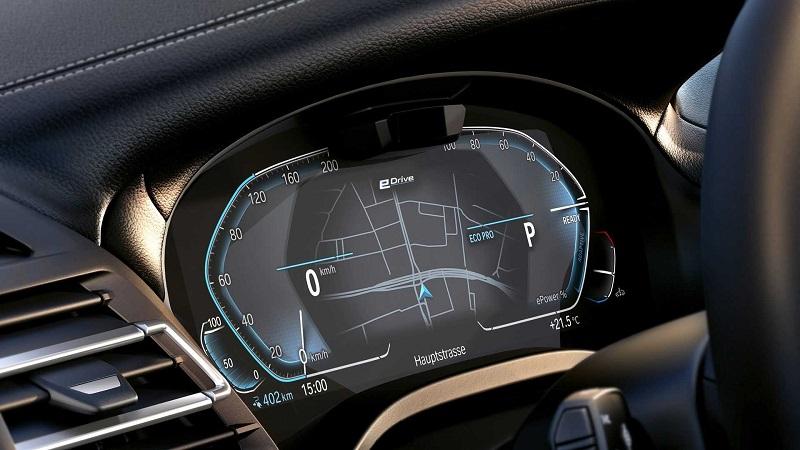 Салон BMW iX3 2022, панель управления