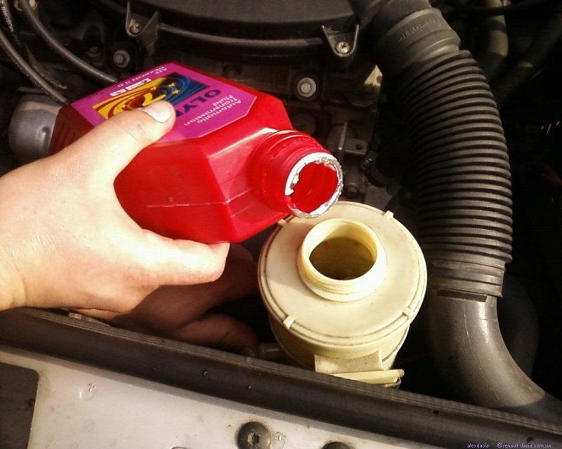 Как заменить масло гидроусилителя